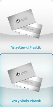 Wizytówki - Plastik